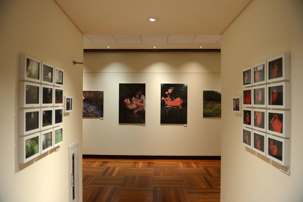 Photography installation in gallery