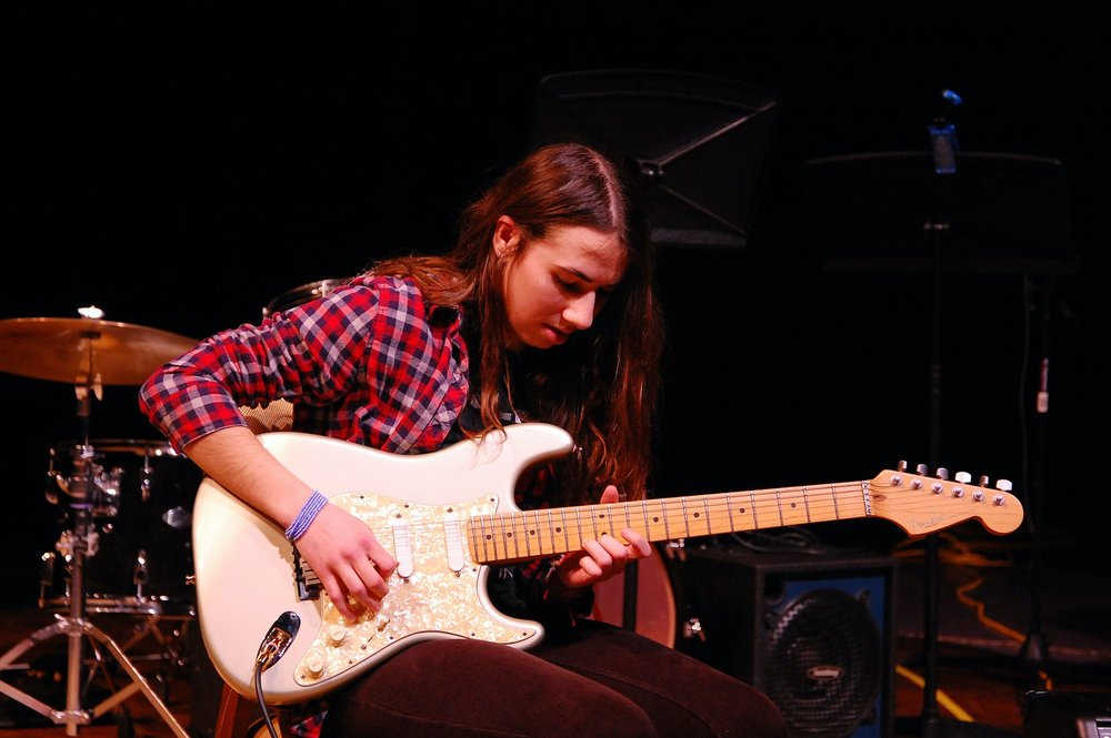 Sam Grossman '17  guitar performance with a guitar he made by hand from reclaimed wood