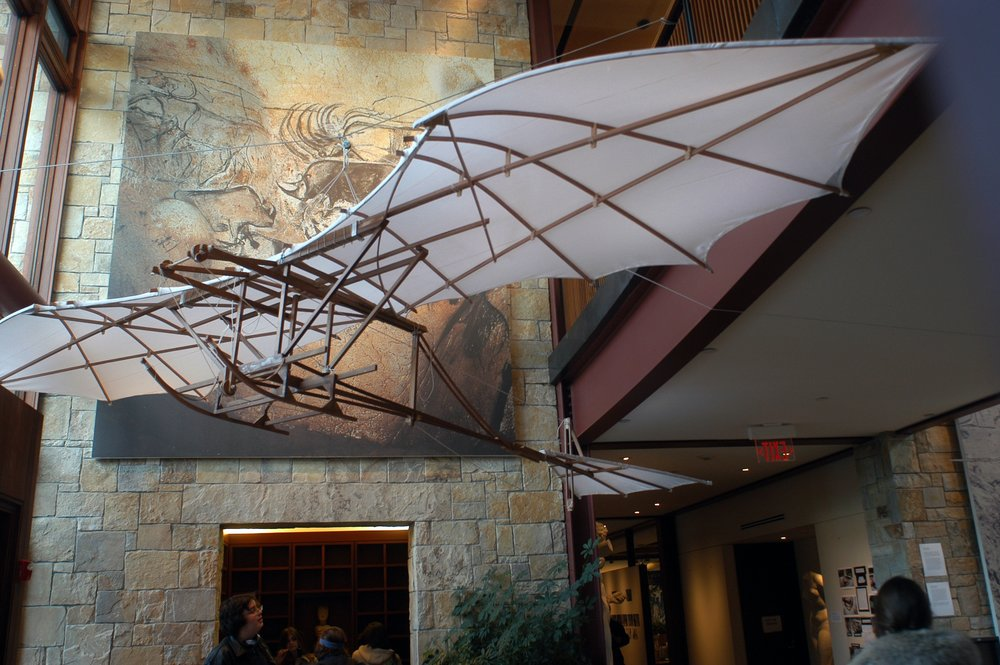 Replica of Leonardo Da Vinci's Flying Machine constructed by Thomas Impiglia '04