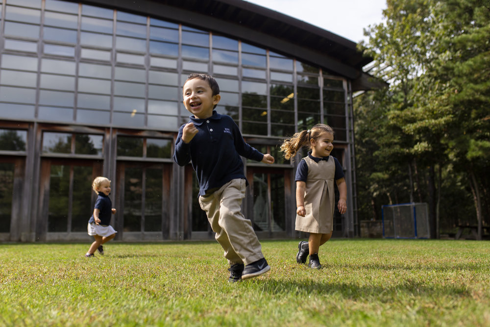 Early Childhood students enjoy time for outside free play and collaborative games.