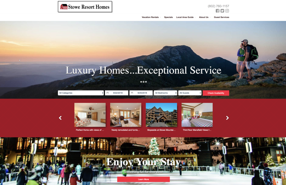 Stowe Resort Homes - Photographer