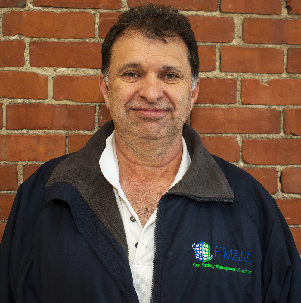 Eddy Saenz, Chief operating officer, - brings over 30 years of custodial knowledge and was a minority owner of FM&M, Inc. prior to its acquisition by WORK Inc. Eddy was one of the first Latin COOs in the Boston market and has spent his entire career introducing Quality state of the art processes and improvements to FM&M Inc. In July of 2004, Eddy coordinated and managed the simultaneous startup of 3 major DDS contracts worth over 2.5 million dollars.