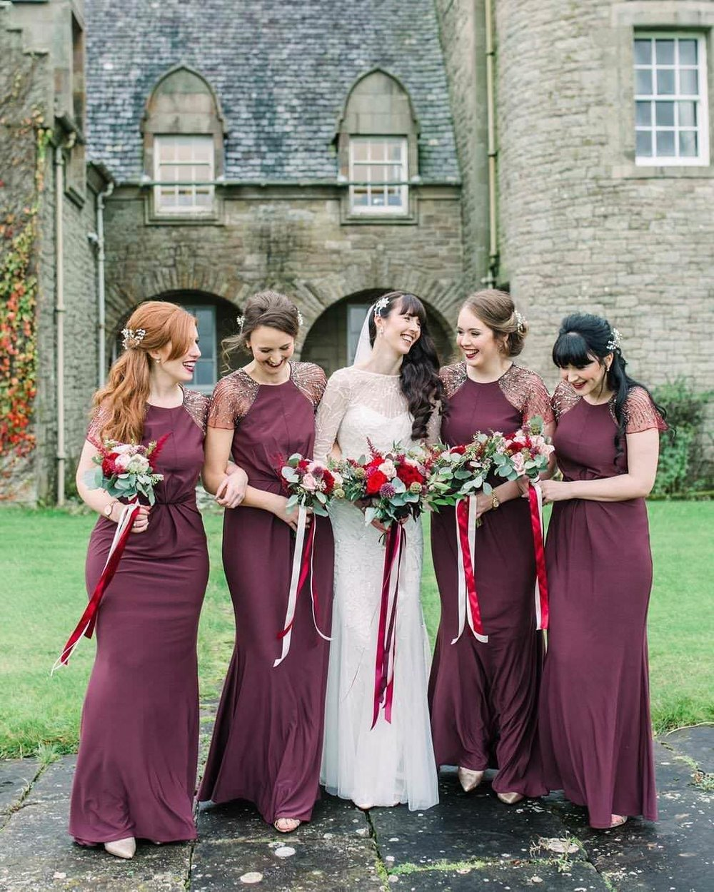 Rowallan Castle bride and bridesmaids