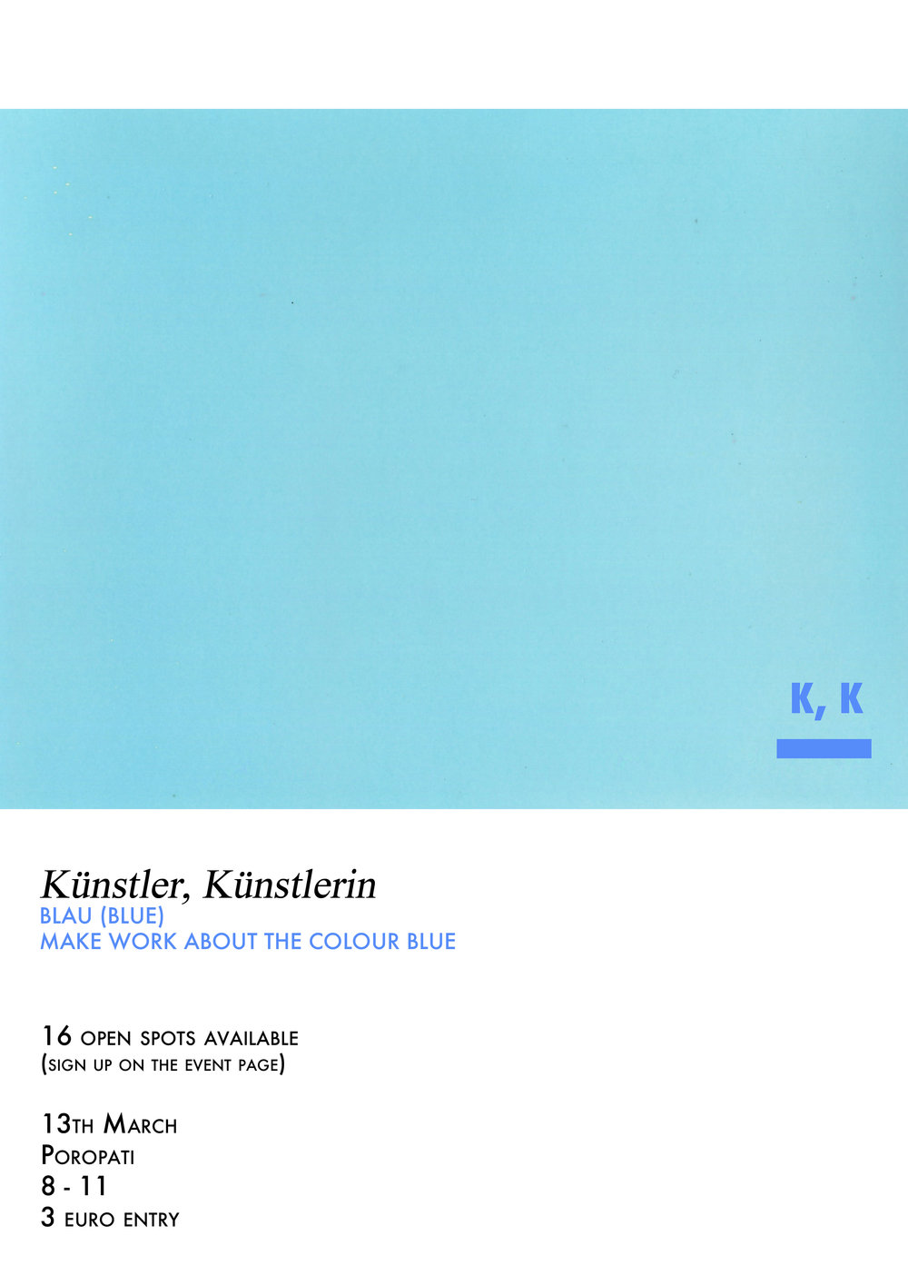 Künstler, Künstlerin, Blau (Blue) make work about the colour blue.jpg