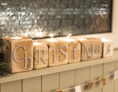 Festive Christmas candle blocks by Purepallets