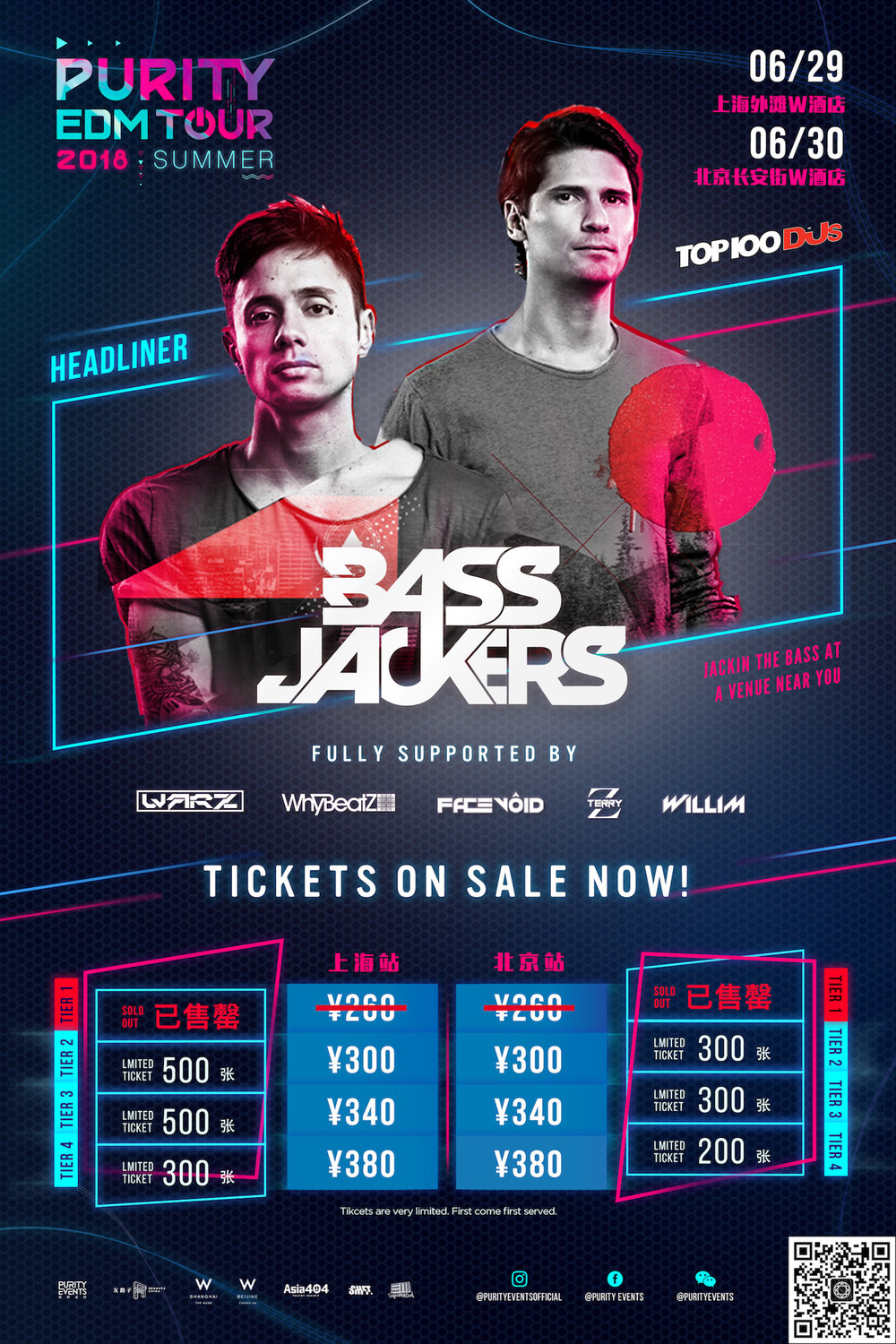 PURITY EDM TOUR 2018: Bassjackers