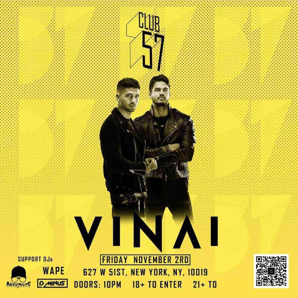 Vinai at Club 57  Nov. 02, 2018