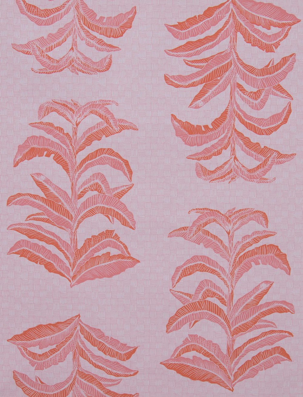 Krane Home_Banana Leaf Coral Pink Wallpaper-1.jpeg