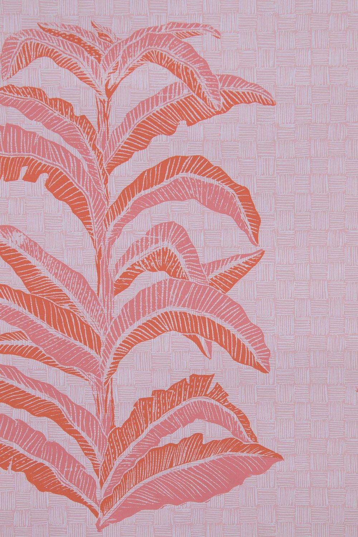 Krane Home_Banana Leaf Coral Pink Wallpaper-2.jpeg