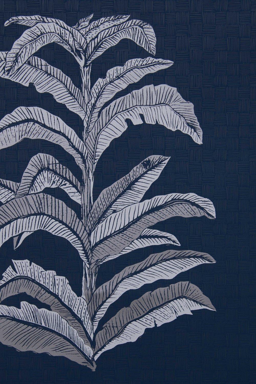 Krane Home_Banana Leaf Navy Wallpaper-2.jpeg