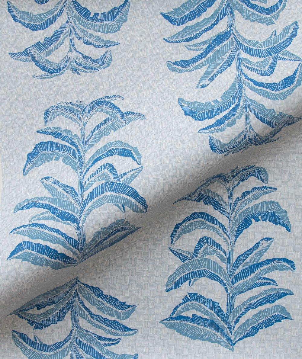Krane Home_Banana Leaf Sapphire Wallpaper-2.jpeg