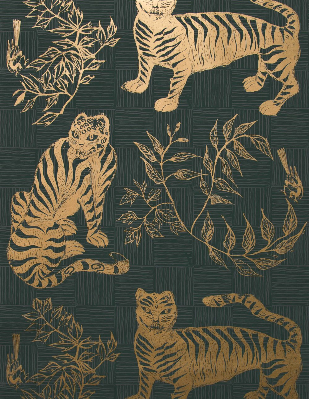 Krane Home_Tiger and Magpie Hunter Wallpaper-1.jpeg