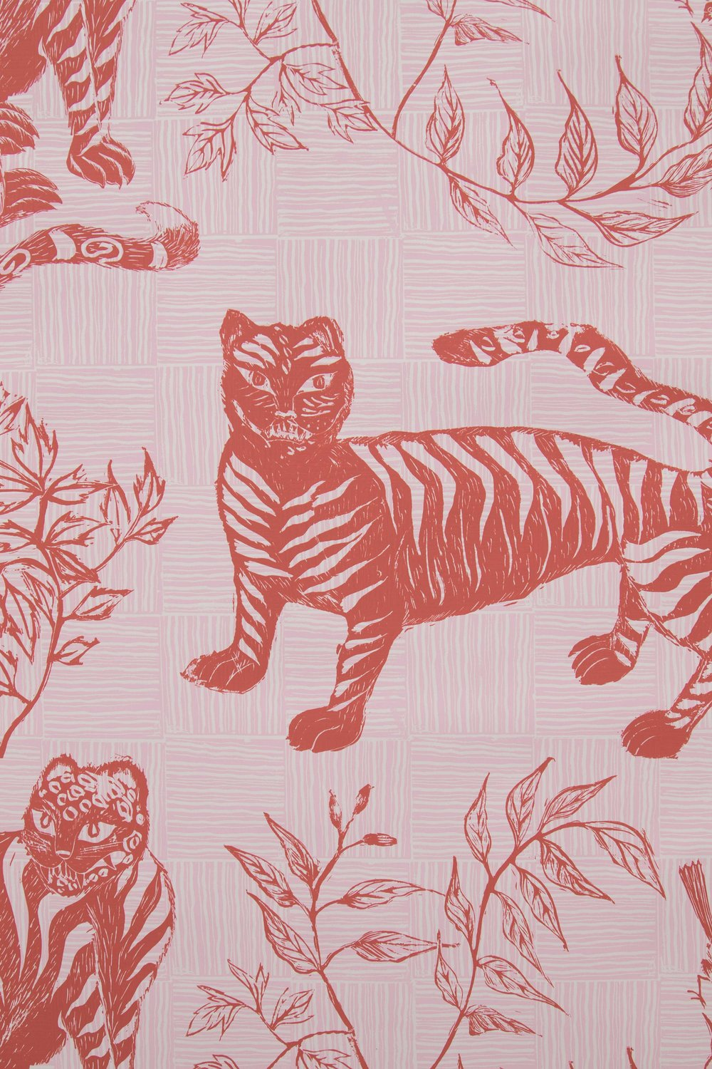 Krane Home_Tiger and Magpie Carmine Wallpaper-2.jpeg