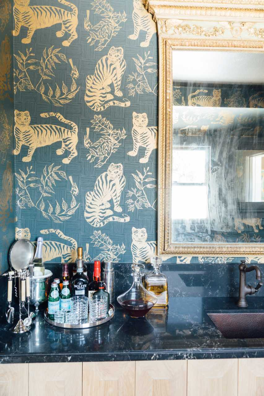 Tiger & Magpie Wallpaper in Hunter, Interiors by Nicole Gordon Studio