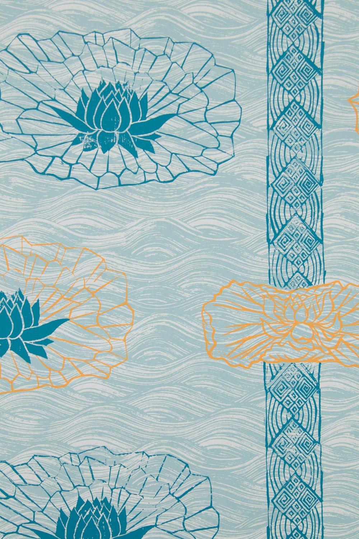 Lotus Stripe in Celadon, SL150-03