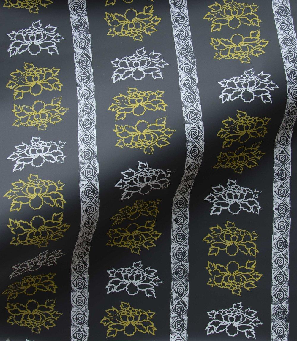 Krane Home_SL140-04 Floral Stripe Night Lemon Wallpaper-3.jpeg