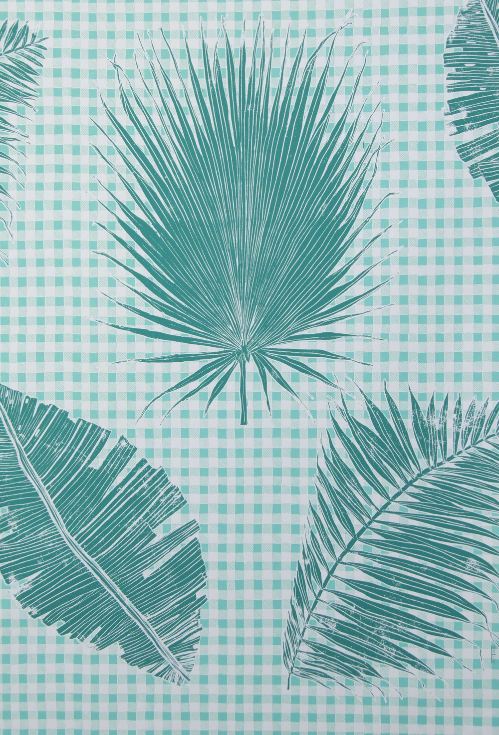 Gingham Jungle in Jade, SL230-02