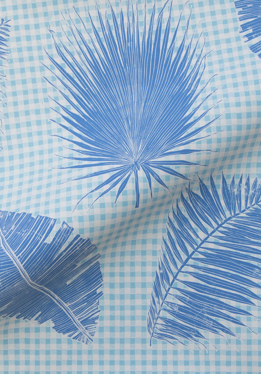 Gingham Jungle in Lapis, SL230-03