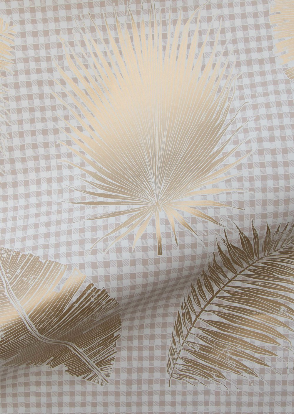 Gingham Jungle in Gold, SL230-04