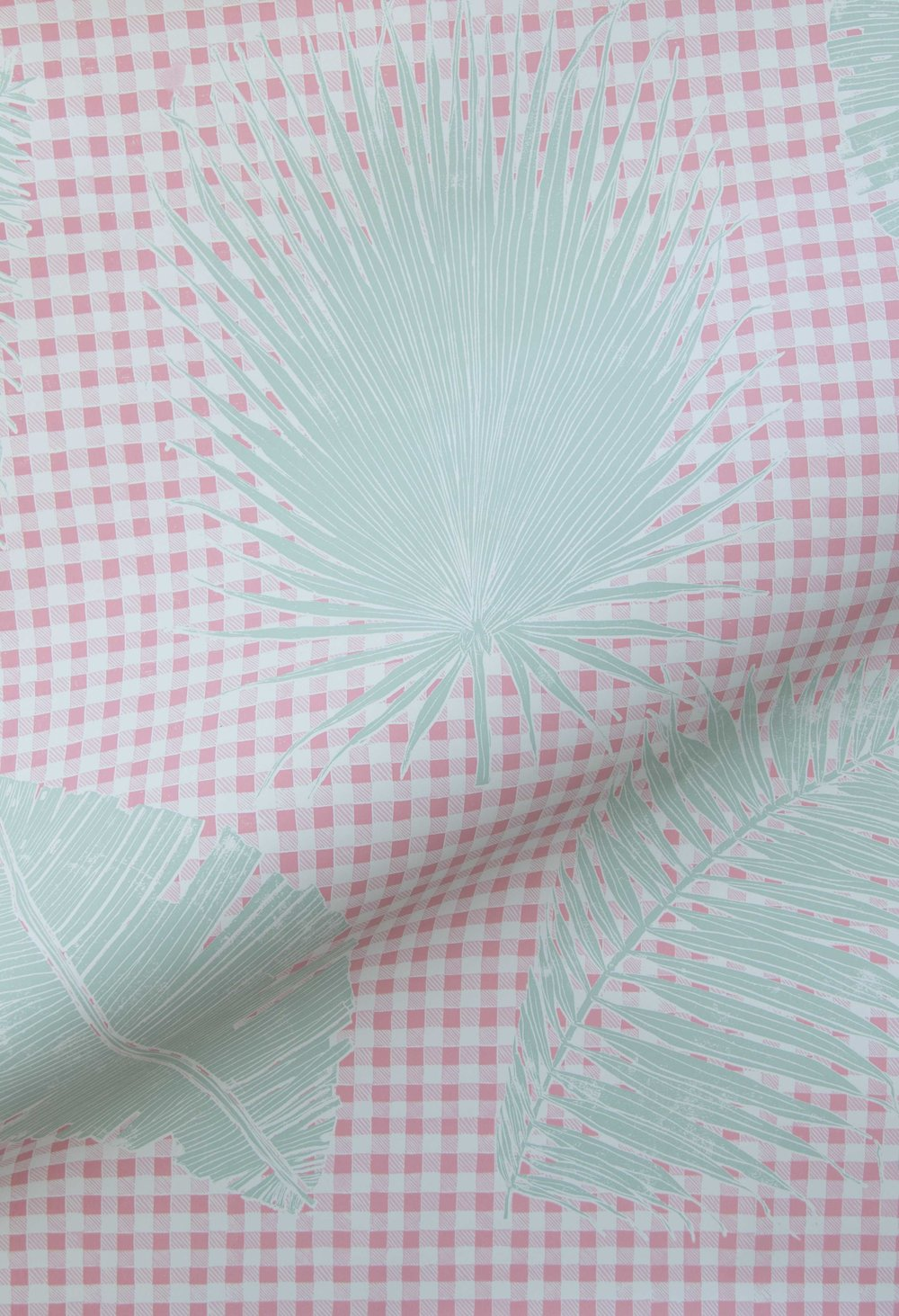 Gingham Jungle in Pink Sage, SL230-05