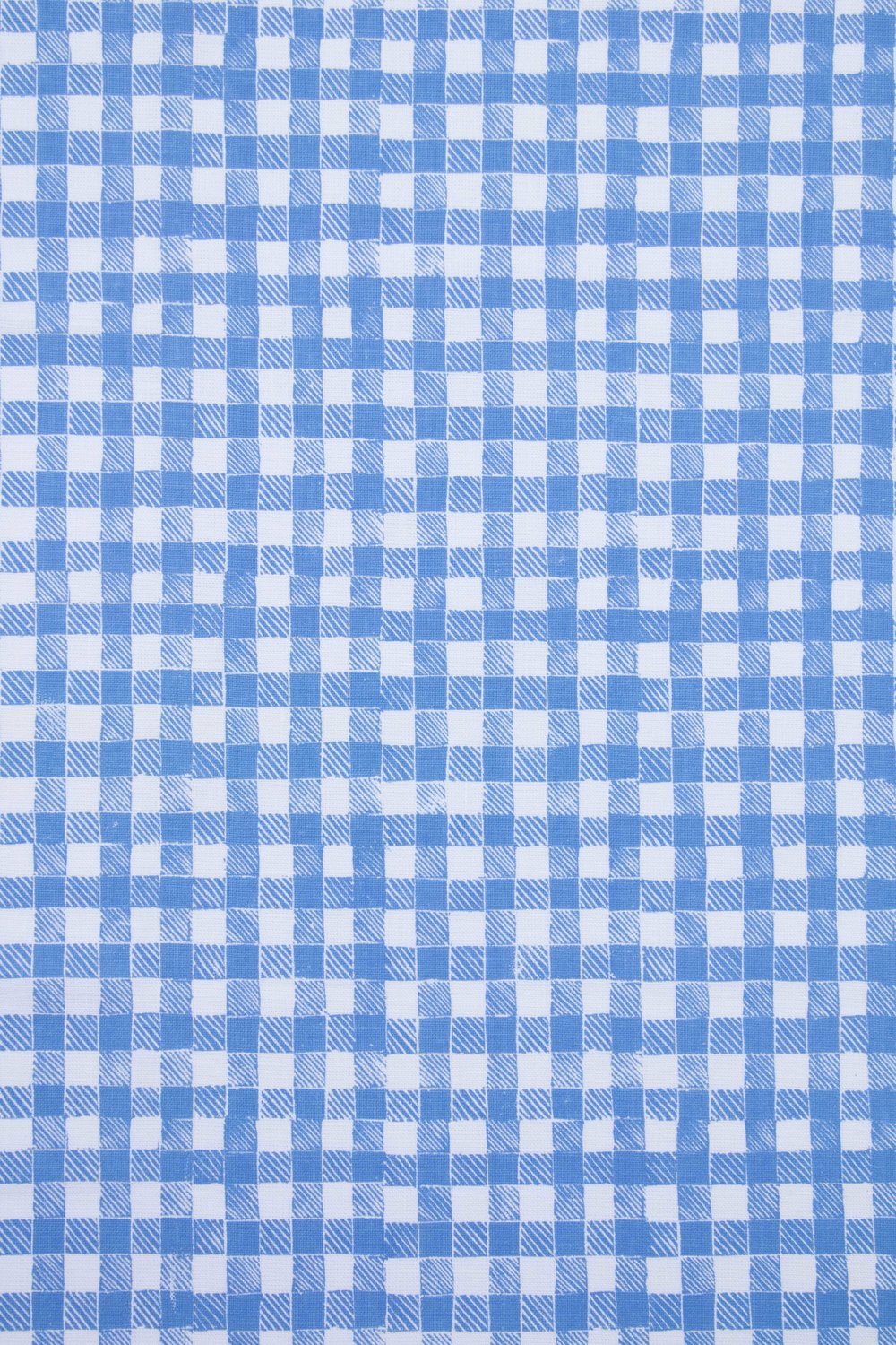 Block Print Gingham in Blue, KF250-01