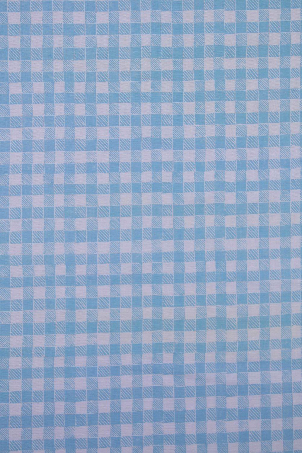 Block Print Gingham in Light Blue, KF250-03