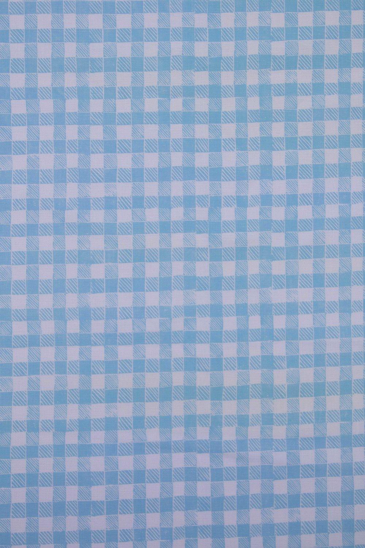 Block Print Gingham in Light Blue, KF250-03