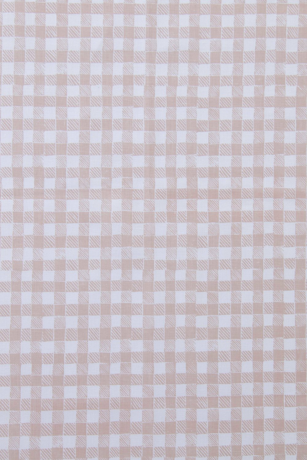 Block Print Gingham in Beige, KF250-04