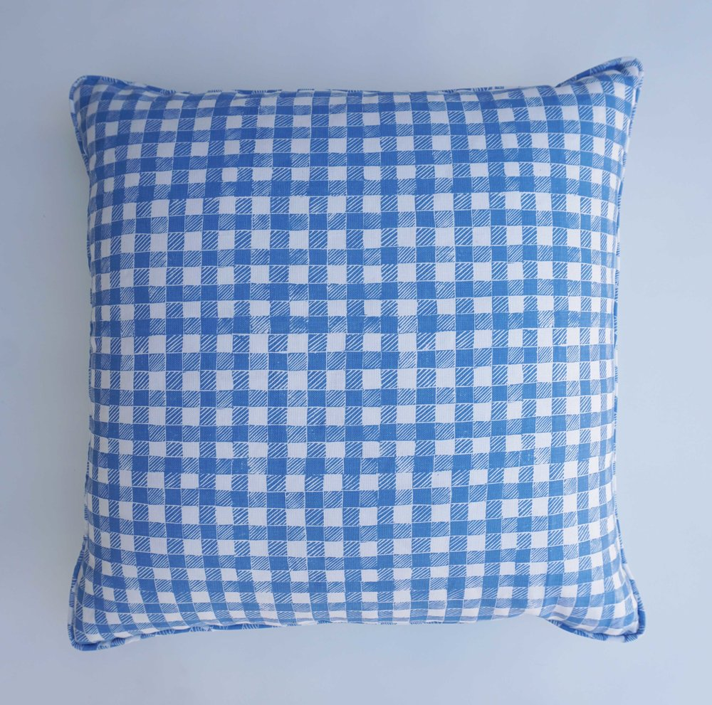 Block Print Gingham in Blue, SL250-01P