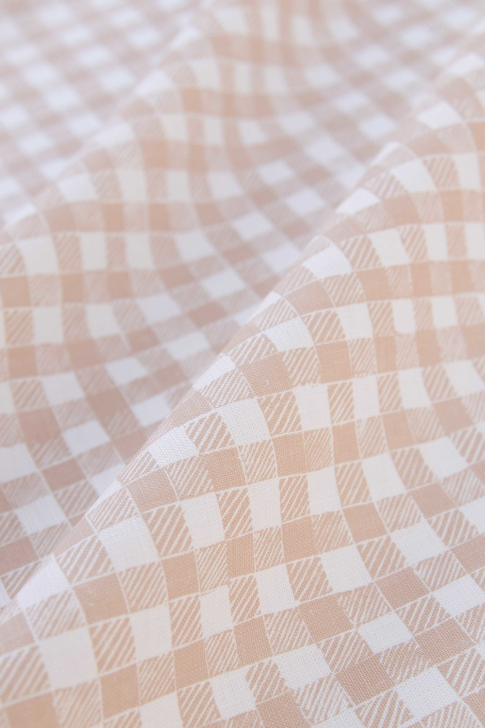 Block Print Gingham in Beige, SL250-04P