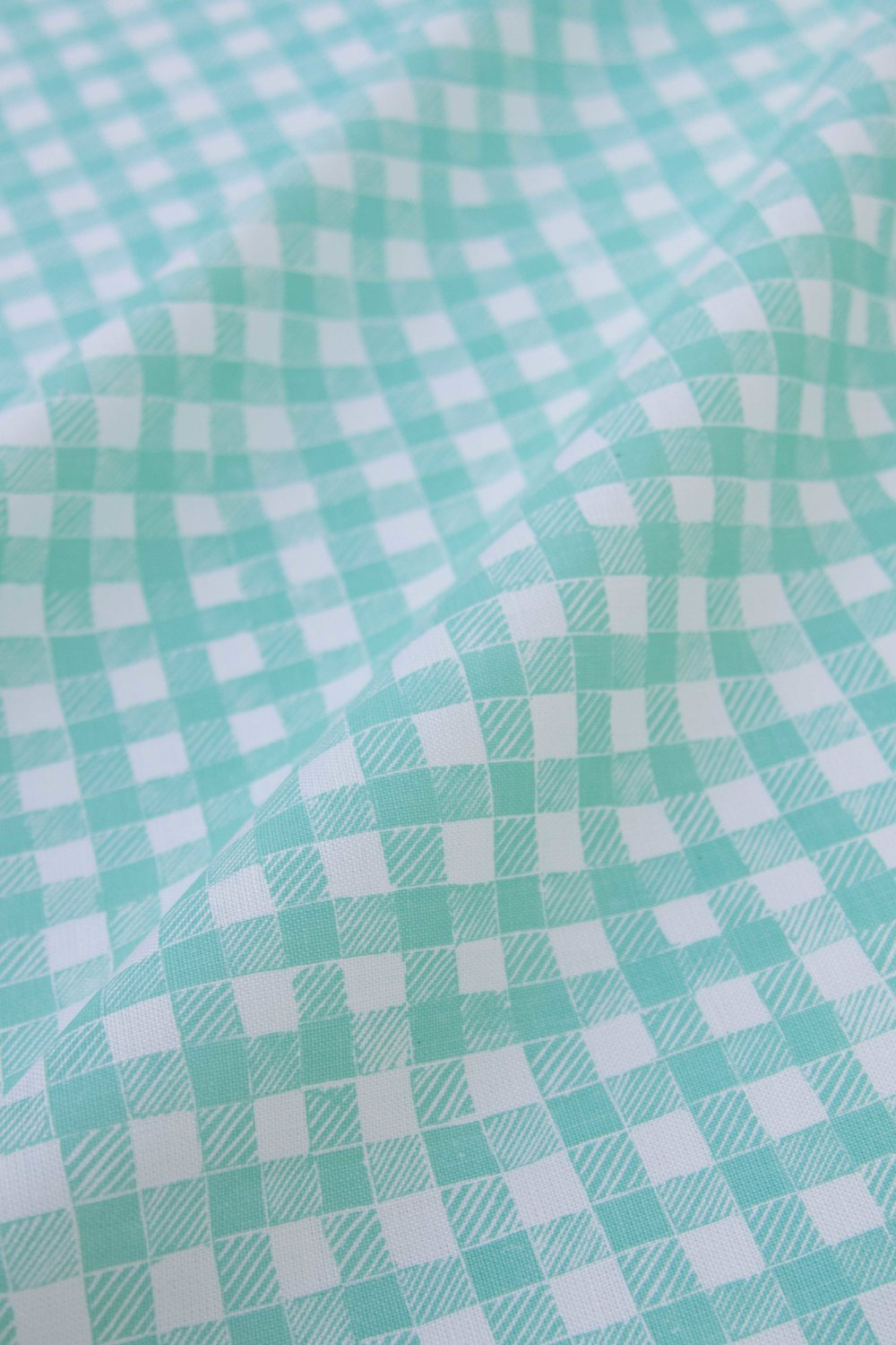 Block Print Gingham in Green, SL250-02P