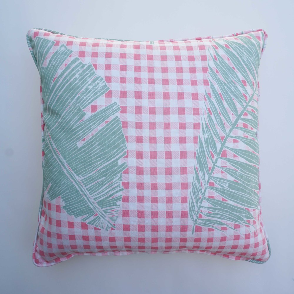 Gingham Jungle in Pink Sage (reverse), SL230-05P