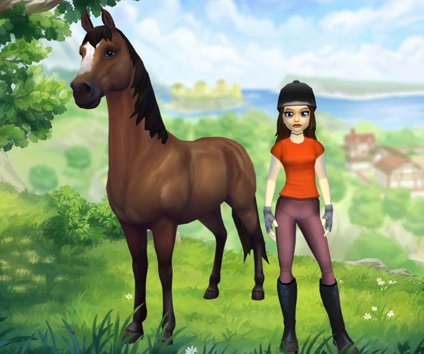 The new model and texture looks smoother and fits in better with the rest of the game's horses. Most importantly, its eyes are facing appropriately sideways.