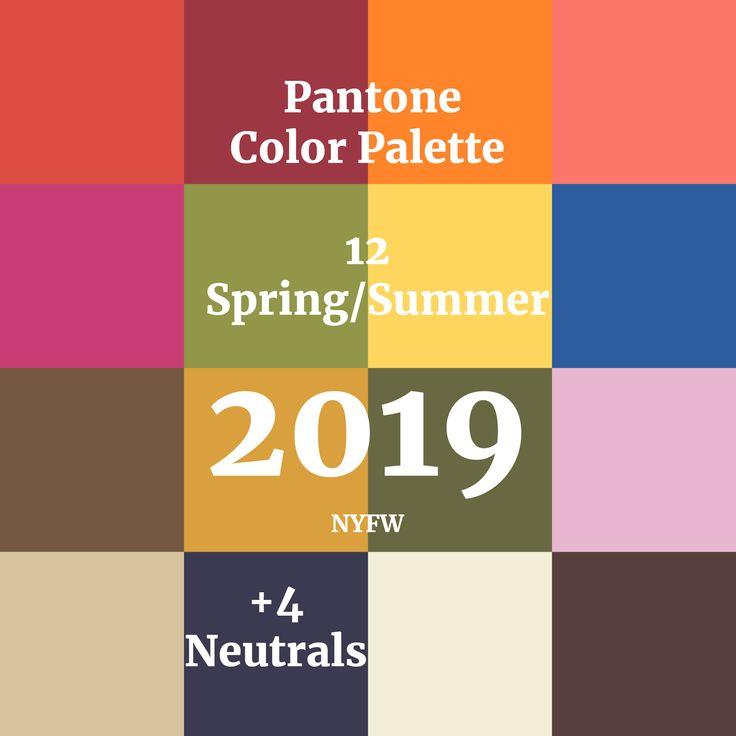 Pantone Spring/Summer 2019 Color Palette