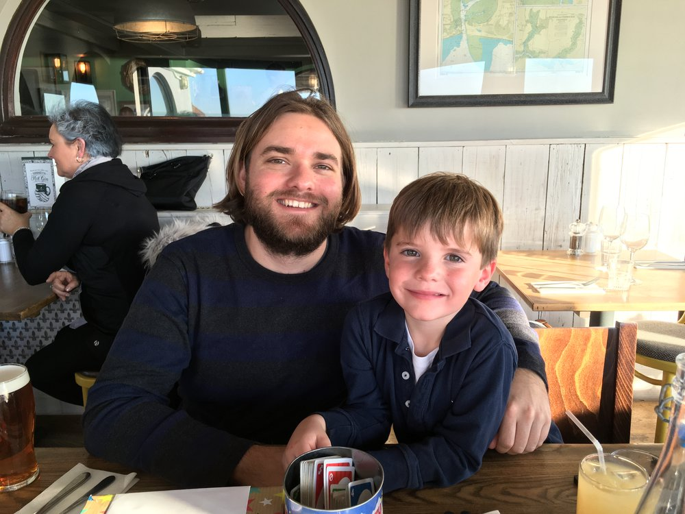 Jonathan Rowntree with nephew, Freddie
