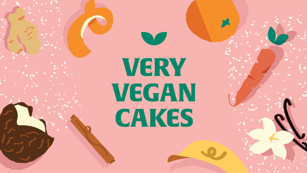 Very Vegan Cakes logo design
