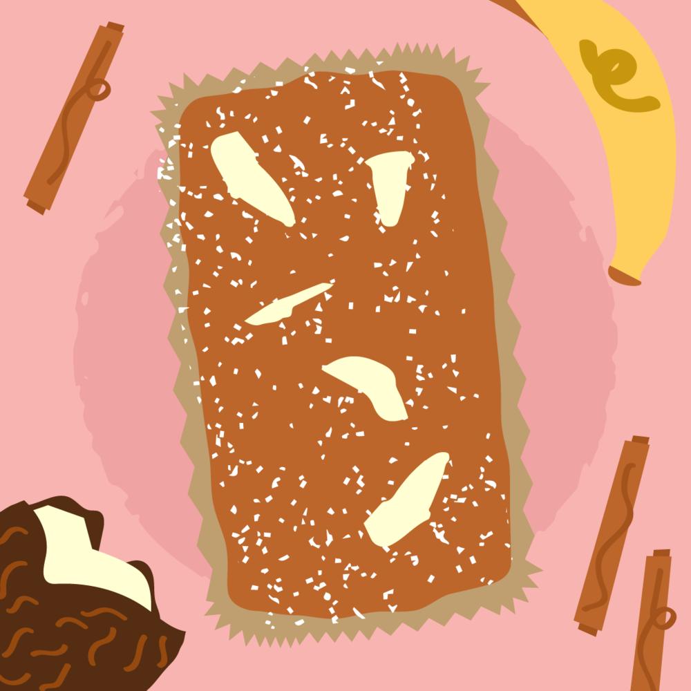 Cake Illustration Coconut