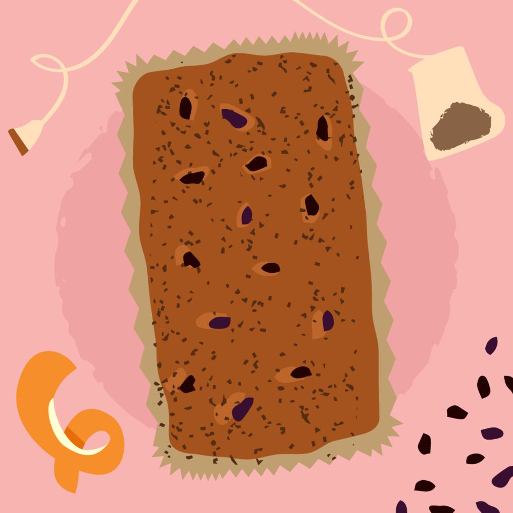 Cake Illustration Bara Brith