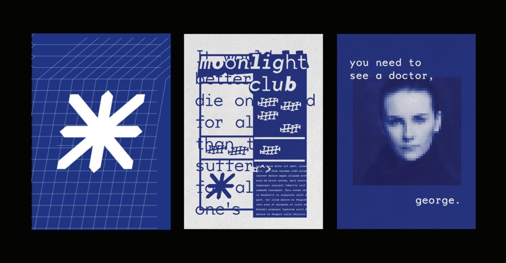 Moonlight Club Poster Design