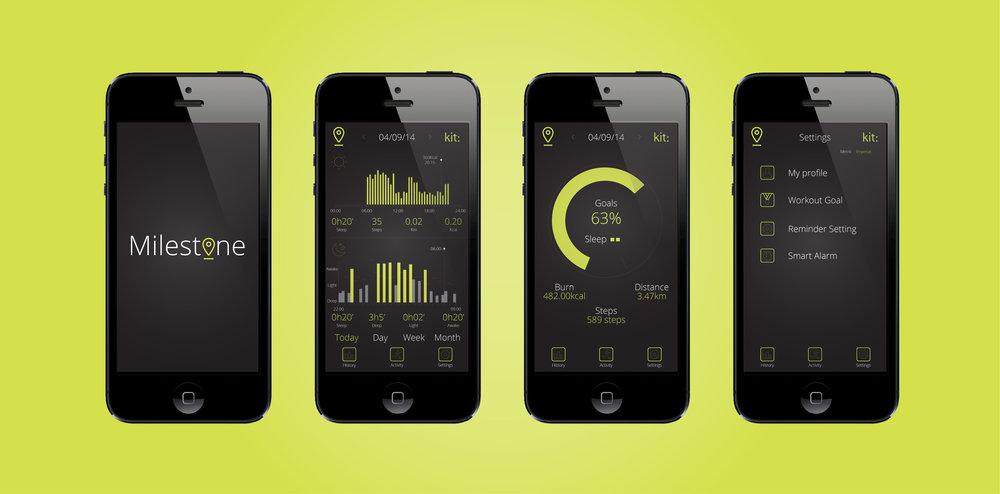 Milestone App Design UI
