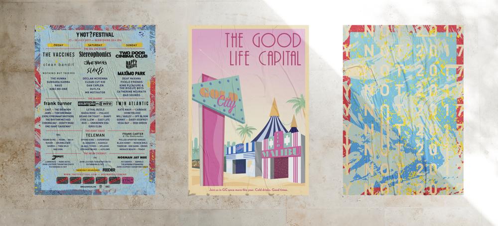 Y Not Festival Poster Design