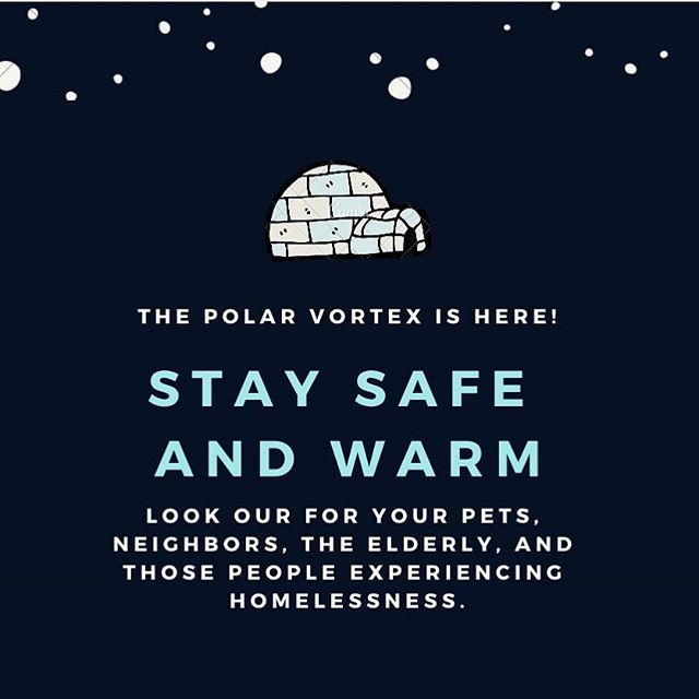 Stay safe and warm during this winter weather! Be safe while traveling on foot and by vehicle #snow #polarvortex #livewelldogood