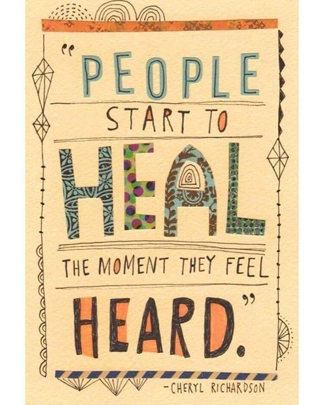 Speak up for what you need and listen when people do #livewelldogood #listen #speakup
