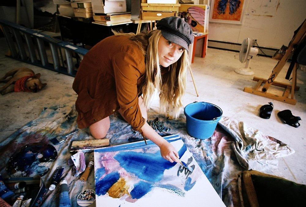 Kelly Peters - A visual artist living and working in Aspen, Colorado. Her work is represented at 'LivAspenArt-Working Artist Studio and Gallery' located at the base of Aspen Highlands Mountain. She received her Bachelor of Fine Arts in Painting/Drawing from Northern Michigan University in 2014. She also attended the Vienna Academy of Visionary Art to study traditional oil painting techniques in their
