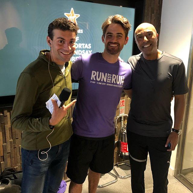 Super fun morning with @colinrayjackson @virginradiouk and Vassos for the press launch of #chrisevans' @runfestrun  Festival at Bowood House. . . He had us all racing on the treadmills while he was live on air with the @reef playing too! great start to the weekend! Can't wait to be on the lineup for runfestrun festival end of May sharing breathing techniques for improving athletic performance!  #breathpod #virginradio #runfestrun #breathingforsport #love #sport #train #breathwork #running #breathe #breath #enjoy #breathcoach #althlete #fitness #health #optimise
