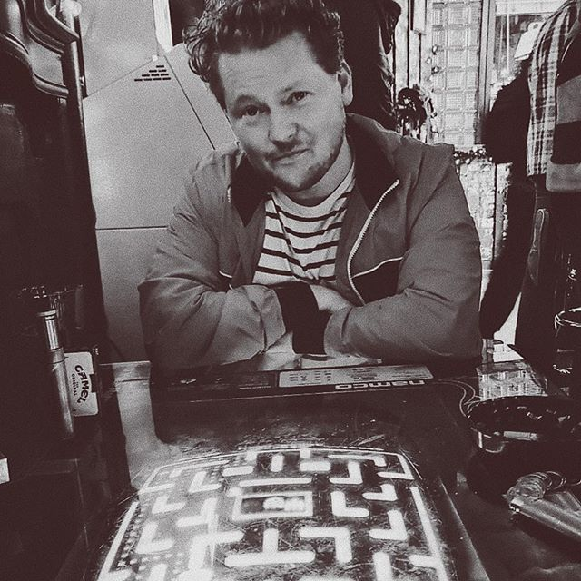 @the_villager_tavern :The ultimate after podcast hang #mrs.pacman