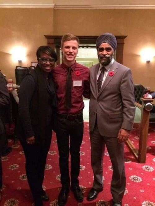 Meeting Parliamentary Secretary to the Prime Minister, MP Celina Caesar-Chavannes & Canada's National Defense Minister, The Honourable Harjit Sajjan. 2016.