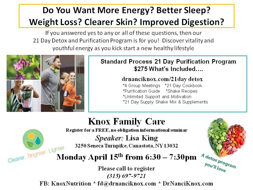 Event Information — Knox Nutrition & Chiropractic Care