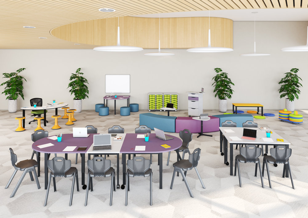 Examples of BFX Furniture & Flexible Learning Spaces