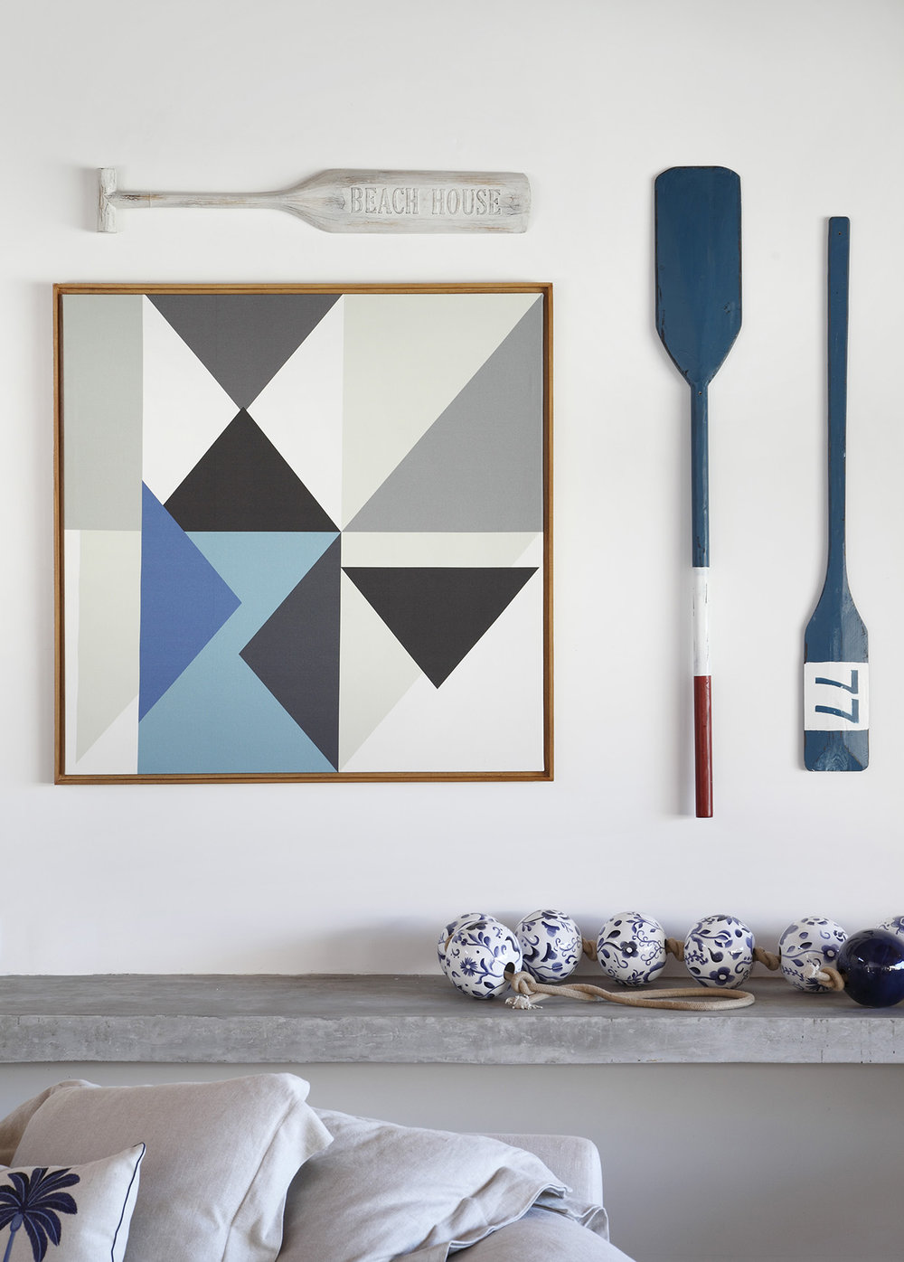 Arrows - paleta azul 1,0 x 1,0m PROJETO RBP ARQUITETURA   FOTO MCa ESTUDIO